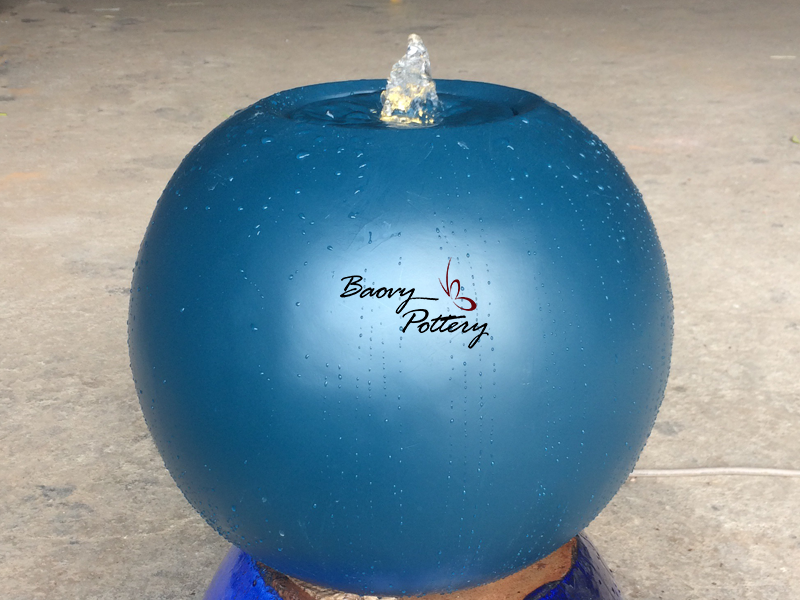 Blue Ball Polystone Fountain