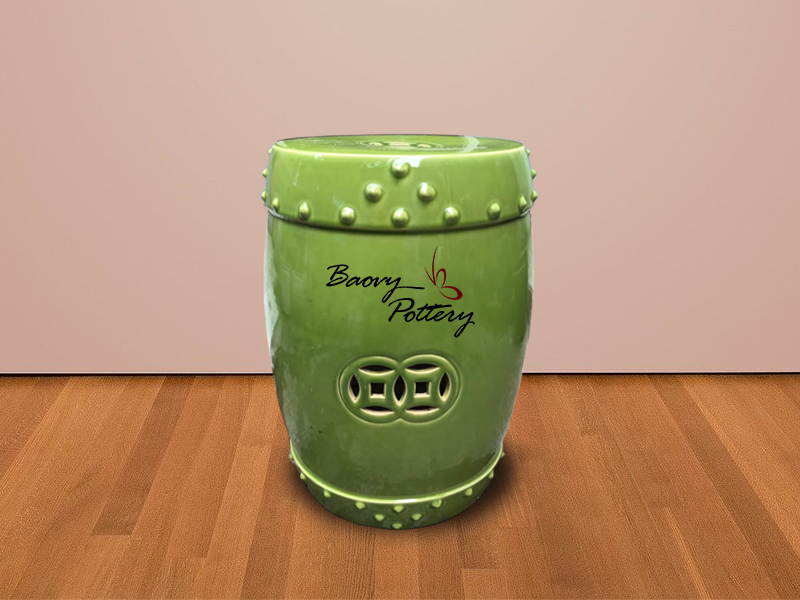New Model Green Ceramic Stool