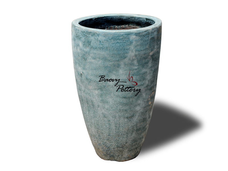 New Blue Bubble Glazed Vase Planter
