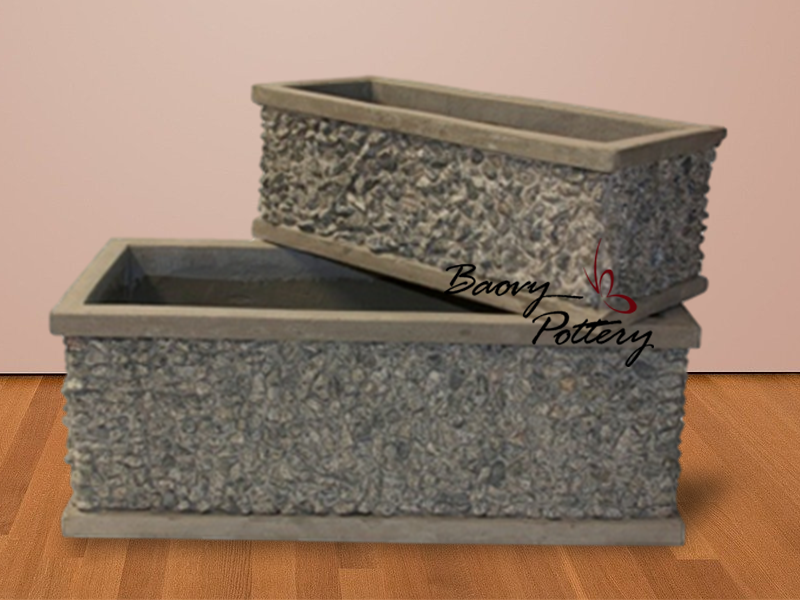 Trough Pebble Planter