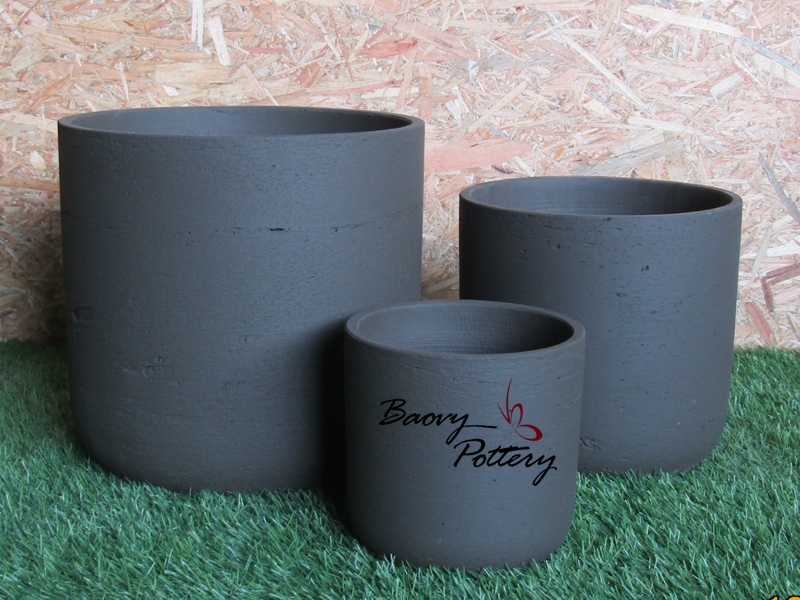 Black Concrete Morden Pot