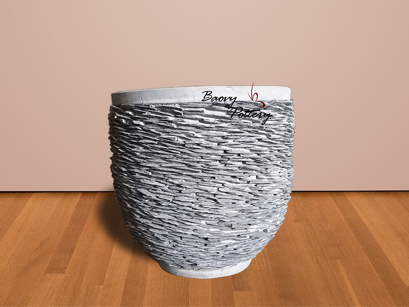 Large Pebble Round Planter